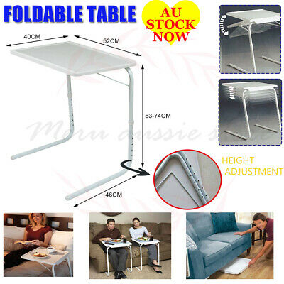 Laptop Foldable Table Adjustables Tray Bed Desk Dinner TV Save Space Folding AU
