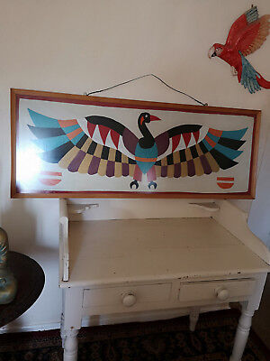 """AMAZING HUGE FRAMED COLLAGE PICTURE OF EXOTIC BIRD-49""""Wx19""""-STUNNING-PHOENIX"""