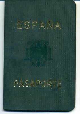 1962 Spain  Expired Canceled Collectible Passport, Travel Document