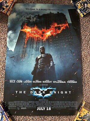 The Dark Knight Original D/S 27x40 Movie Poster 2008 Batman Nolan Joker RARE