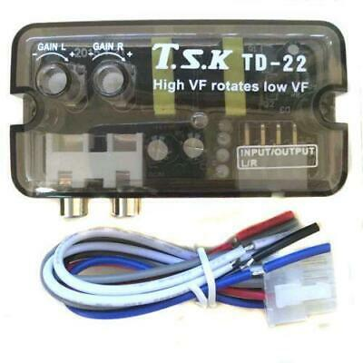 Auto Car Speaker Level High to Low Impedance Converter 2 Channel RCA Line Out