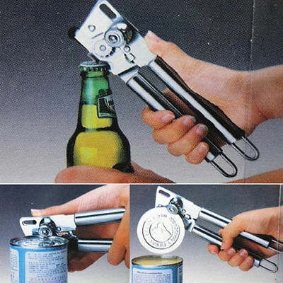 Stainless steel Jar Lid Remover Tool Manual Gripper Can Bottle Opener Cap