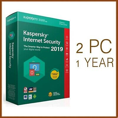 Kaspersky Internet Security Antivirus 2019 2 PC Device 1 Year - Global License
