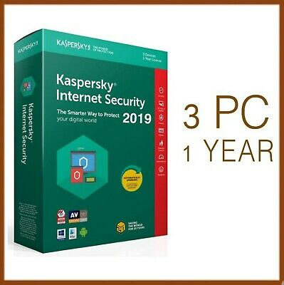 Kaspersky Internet Security Antivirus 2019 3 PC Device 1 Year - Global License