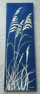 Marushka Beach Sea Grass Vtg Mid-Century Silk Screen Fabric Art Print Textile