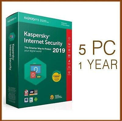 Kaspersky Internet Security Antivirus 2019 5 PC Device 1 Year - Global License