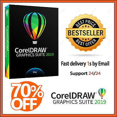 ⚡CorelDRAW GRAPHICS SUITE 2019✅ LIFETIME 🔑LICENSE KEY 🔑 INSTANT DELIVERY 1s🚀