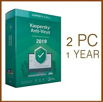 Kaspersky Anti-Virus 2019 2 PC Device 1 Year - Global License