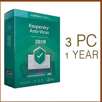 Kaspersky Anti-Virus 2019 3 PC Device 1 Year - Global License