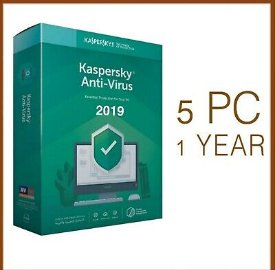 Kaspersky Anti-Virus 2019 5 PC Device 1 Year - Global License