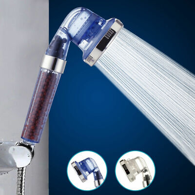 3 Mode High Turbo Pressure Shower Head Filtered Ionic Stone Stream C0T5D