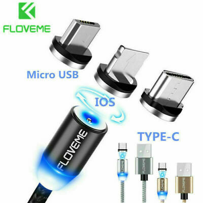 For iPhone 7 8 9 FLOVEME Magnetic Type-C Micro Fast Data Sync Charging Cable