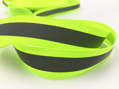 50-100m 30MM Reflective Tape Strip Sew-On Fabric Trim Safty Vest 30mm NEW