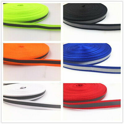 DIY 50-100m 10MM Reflective Tape Strip Sew-On Fabric Trim Safty Vest 10mm