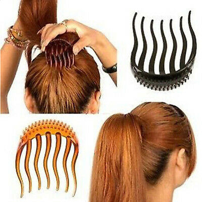 Fashion Koreanstyle Hair Bouffant Insert Clip Ponytail Hair Comb Bun Maker N IO