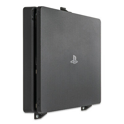 Wall Mount for Playstation 4 PS4 Slim Game Console - Black