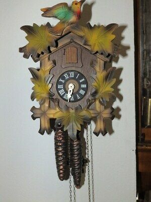 Cuckoo Clock Black Forest Clock 1950 - 1980 Nice Condition