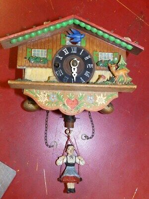 Cuckoo Clock Black Forest Clock 1950 - 1980 For A Easy Restauration
