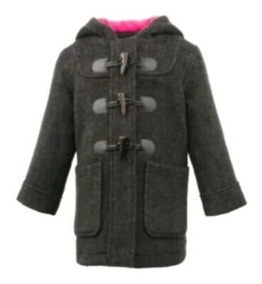 7342ad55121 Madden Girl Faux Wool Jacket Toggle Hooded Buttons Winter Pea Coat Girls 4T  5T