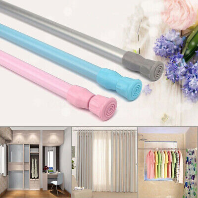 Telescopic Shower Curtain Rail Rod Pole for Bath Wardrobe Window Curtain Intrig