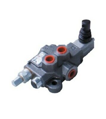 """Bucher Hydraulic 3/8"""" 40 l/min One Bank Double Acting Lever Valve 3 Position Spr"""