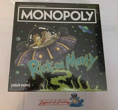 * New * Monopoly Rick and Morty Collector's Edition w/ Bonus Butter Robot Token