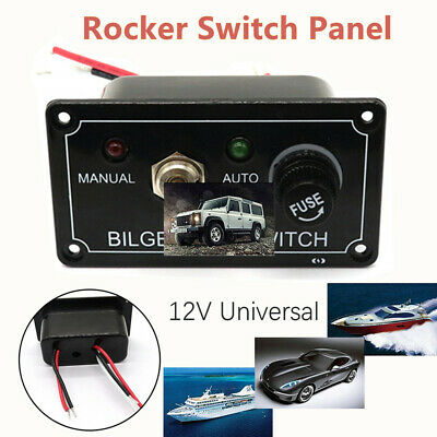 1 Gang Fused Marine Rocker Switch Panel For Boats Rv's 12 V Toggle Switch Panel