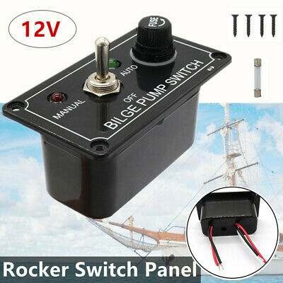1pc 1 Gang Fused Marine Switch Panel For Boat Rv's  ATVs 12V Toggle Switch Panel