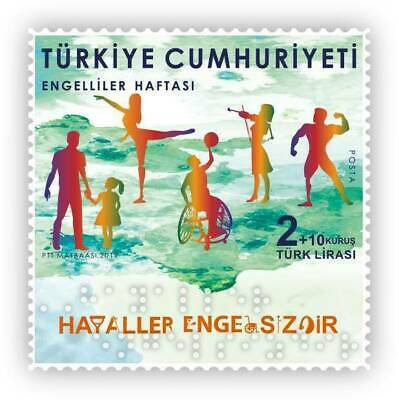 TURKEY/2019 - WEEK OF PEOPLE WITH DISABILITIES (With Breille Alphabet), MNH