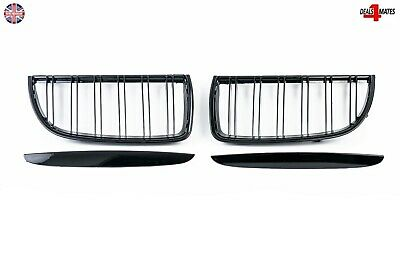 For Bmw E90 Sedan E91 Wagon 2005-2008 Front Bumper Kidney Grilles Gloss Black
