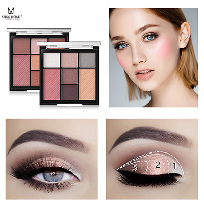 Nude Eyeshadow Palette 7 Color Naked Matte Pearl Eye Shadows Waterproof Natural