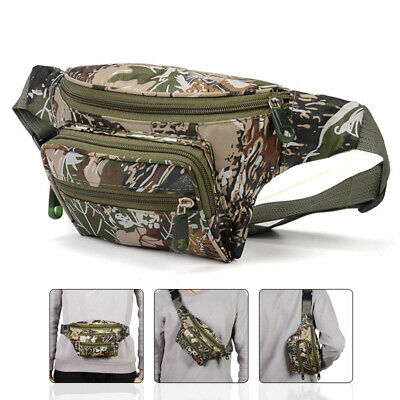 Outdoor Metal Detector Finds Pouch Camo Zipper Pockets Waist Bag Muti Pockets