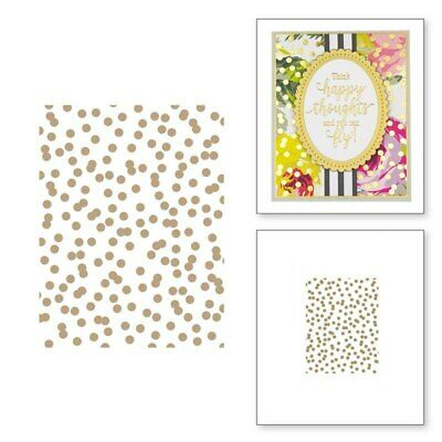Polka Dotted Background Hot Foil Plate Stencil Scrapbooking Embossing DIY