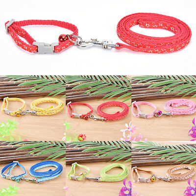 Nylon Dog Puppy Collar and Leads Leash with Bell for Chihuahua Star Print PK