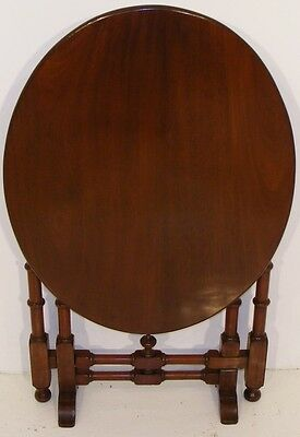 Good Quality Antique Very Unusual Mahogany Tip Up Folding Table