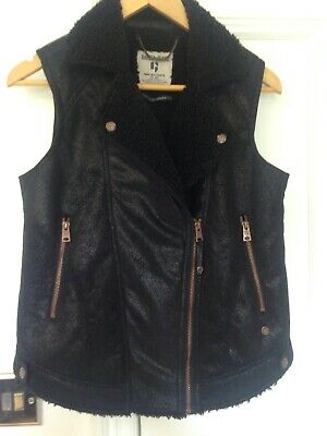 Ladies/girls Black Garcia Jeans Waist Coat Size Small
