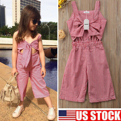 85027217e USStock Toddler Baby Girl Summer Romper Bodysuit Jumpsuit Outfit Sunsuit  Clothes