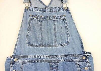 "Vtg ladies GAP denim Coverall Dungarees size XL Oversized baggy  W38/40"" L29.5"""