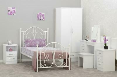Annabel 3ft Single Bed Frame in White