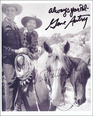 The Gene Autry Show Tv Cast - Autographed Signed Photograph With Co-Signers