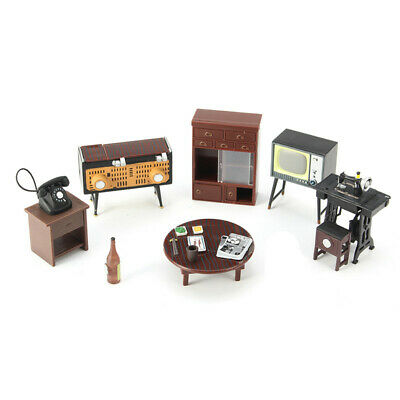 Miniature Dollhouse Furniture Set Sewing Machine Telephone For Families Role