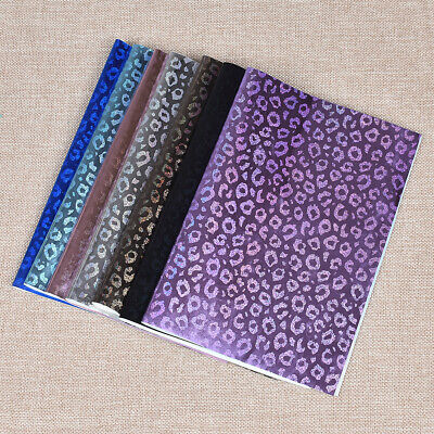 1Pc A4 Laser Leopard Print PU Synthetic Leather Fabric DIY Handmade Craft