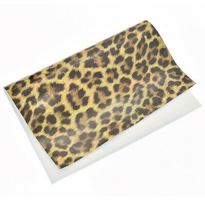 A4 Laser Simulation Leopard Synthetic Leather Fabric For Handmade Craft