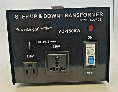 Powerbright - Step Up & Down Transformer - Vc-1500W