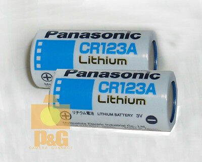 NEW PANASONIC CR123A Lithium Batteries 3V Battery 2pcs Free & Fast Ship