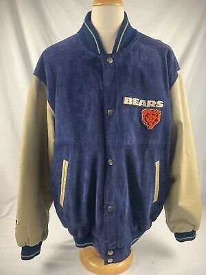 Vintage Chicago Bears Letterman Jacket Leather and Polyester XXL Rare - NICE! 🔥