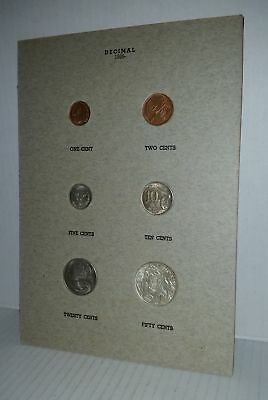 Australian 1966 UNC coin set in DANSCO press-in page incl 80% Silver Round 50c