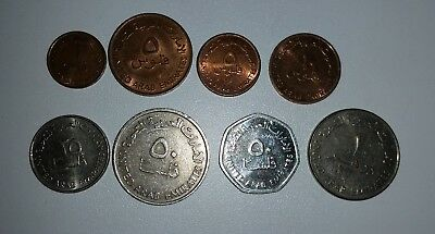 8 different coins from UAE United Arab Emirates