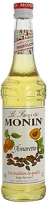 MONIN Coffee Syrup 70 CL AMARETTO - Great for Sodas and Cocktails too!