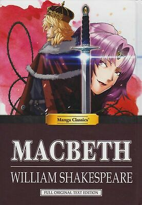 Manga Classics Macbeth by William Shakespeare Full Original Text Edition Hardbac